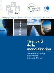 Tirer parti de la mondialisation - International Transport Forum