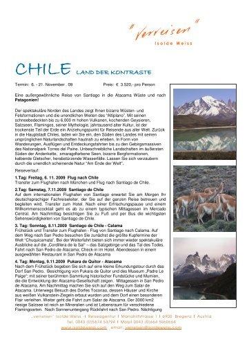 CHILE LAND DER KONTRASTE LAND DER KONTRASTE