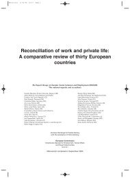 Reconciliation of work and private life: A comparative ... - Eurocid