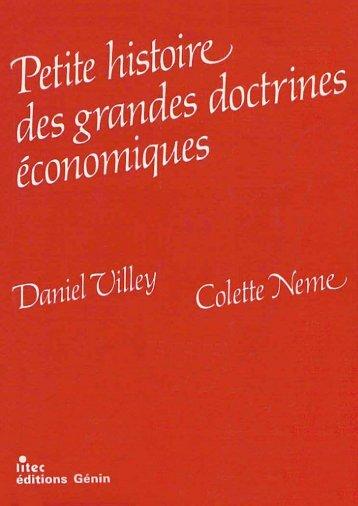 Petite histoire des grandes doctrines économiques - Institut Coppet