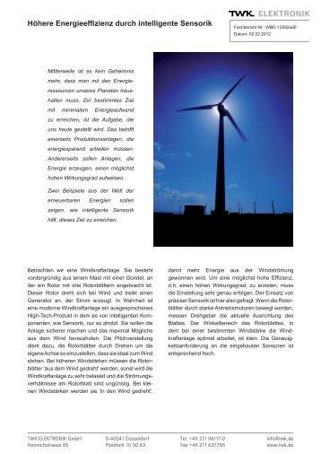 Höhere Energieeffizienz durch intelligente Sensorik