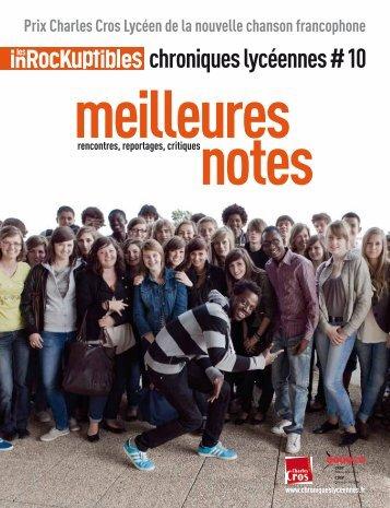 chroniques lycéennes #10 - Les chroniques lycéennes