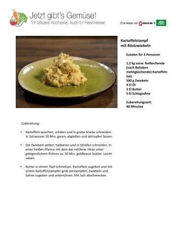 Kartoffelstampf mit Röstzwiebeln - Stern