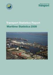 Transport Statistics Report, Maritime Statistics 2009 - Department for ...