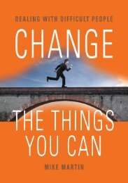 CHANGE THE THINGS YOU CAN: Dealing with ... - The Book Locker