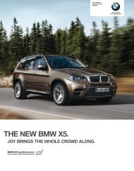 THE NEW BMW X .