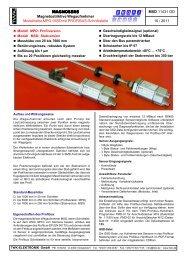 Modellreihe MPD / MSD mit PROFIBUS ... - TWK-ELEKTRONIK GmbH