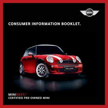 MINI NEXT consumer information booklet