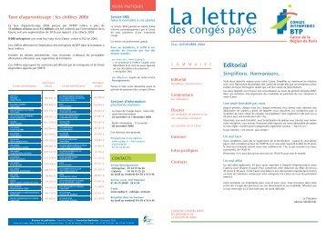 Novembre 2006 - cibtp-paris