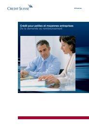 Crédit pour petites et moyennes entreprises De la demande au ...