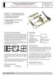 Miniature models IW 10 and IW 101 - TWK-ELEKTRONIK GmbH