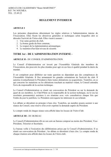 Reglement interieur prud 39 hommes for Reglement interieur association pdf