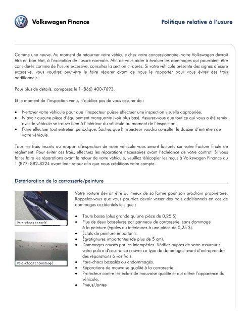 Deterioration De La Carrosserie Peinture Origin Ca Volkswagen Com