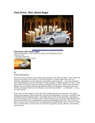 First Drive: 2011 Buick Regal