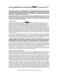Contrat de Maintenance et de Services ™ et Lenovo Care