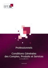 La Convention de Compte - BPE