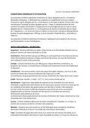 Conditions Générales d'Utilisation - GuideMeOut