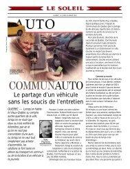 Le partage d'un véhicule sans les soucis de l'entretien - Communauto