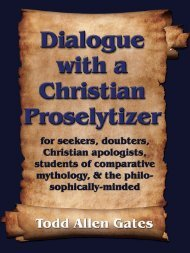 Dialogue with a Christian Proselytizer - The Book Locker