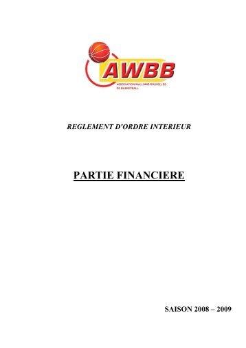 Partie financière - AWBB