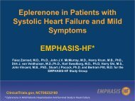 Davos 2011 - Eplerone in patients with systolic Heart Failure and ...