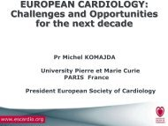 Challenges And Opportunities - European Society of Cardiology