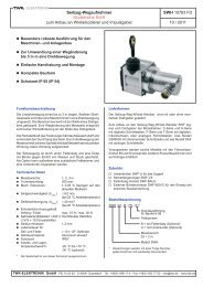 Modellreihe SWH - TWK-ELEKTRONIK GmbH