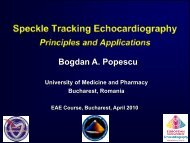 Speckle tracking echocardiography - European Society of Cardiology
