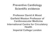 Davos 2011 - Preventive cardiology - Scientific evidence - Wood