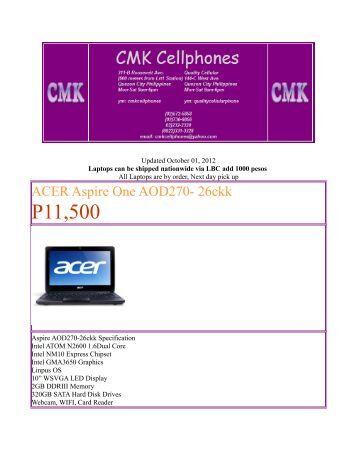 ACER Aspire One AOD270 - HardwareZone.com