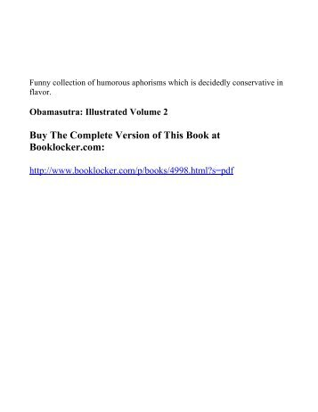 Obamasutra: Illustrated Volume 2 - The Book Locker