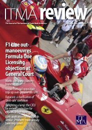 F1 Live out- manoeuvres Formula One Licensing objection at ... - ITMA