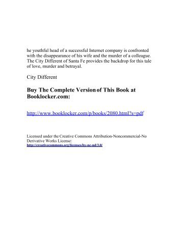 City Different - The Book Locker - BookLocker.com