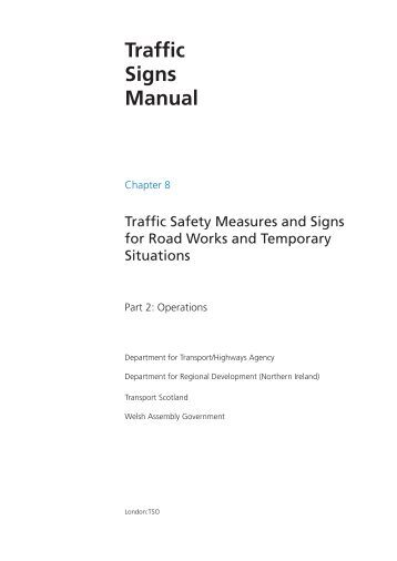traffic signs manual chapter 1