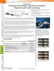 Compact Pneumatic Vibration Isolation Platform with Self-Leveling