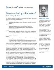 Fractions?Let's get this started! - Pearson