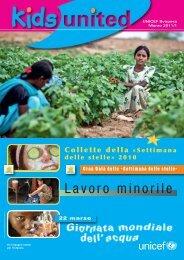 Lavoro minorile - Unicef