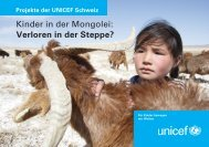 Kinder in der Mongolei: Verloren in der Steppe? - Unicef