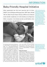 INFORMATION Baby-Friendly Hospital Initiative - Unicef