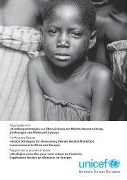 Tagungsbericht «Handlungsstrategien zur Überwindung ... - Unicef