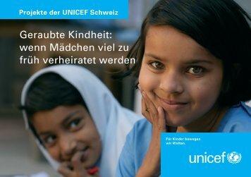Projekte der UNICEF Schweiz