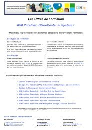Les Offres de Formation IBM PureFlex, BladeCenter et System x