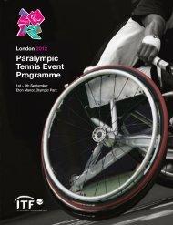 London 2012 Paralympic Tennis Event Programme - USTA.com