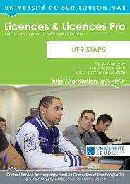 Licences & Licences Pro - Portail de l'offre de formation de l ...