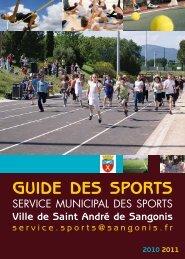 Guide des Sports 2010/2011 - Mairie de Saint André de Sangonis