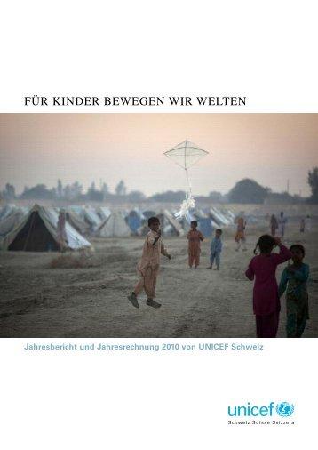 Für Kinder bewegen wir welten - Unicef