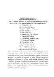 Reglementari adiţionale pentru puz 1999 - Primăria Municipiului ...