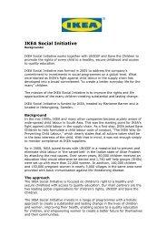 IKEA Social Initiative Backgrounder 01 - Unicef