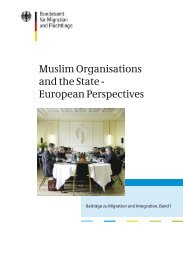 Muslim Organisations and the State -European Perspectives