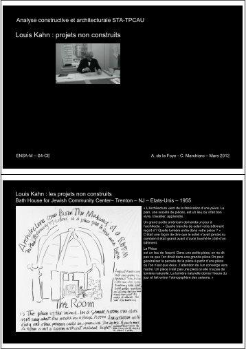 Louis Kahn : projets non construits